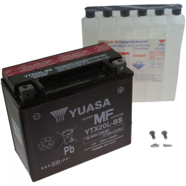 Motorcycle Battery YTX20L-BS YUASA