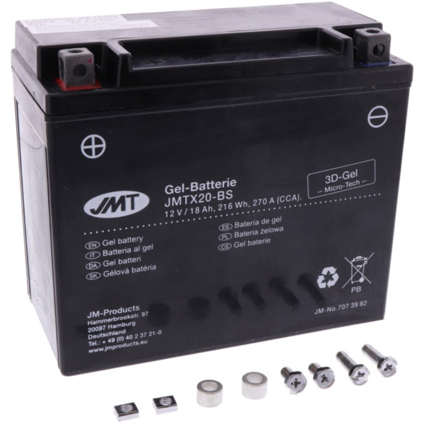 Motorcycle Battery YTX20-BS GEL JMT