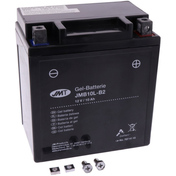 Motorcycle Battery YB10L-B2 GEL JMT