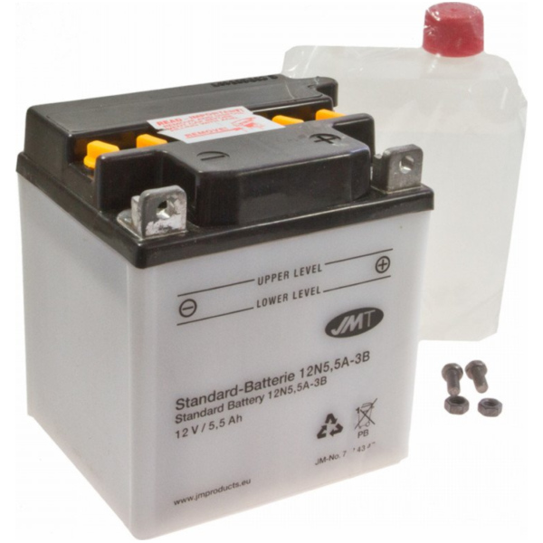 Motorcycle Battery 12N5.5A-3B JMT