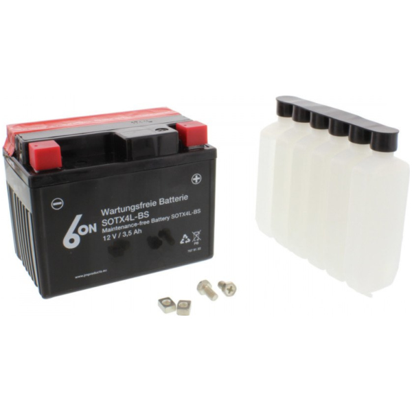 Motorcycle Battery YTX4L-BS 6-ON