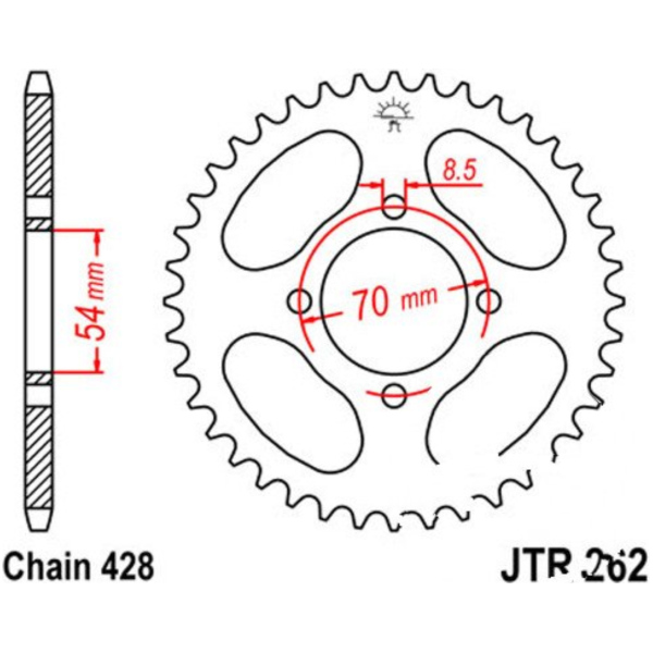 Rear sprocket 40tooth pitch 428