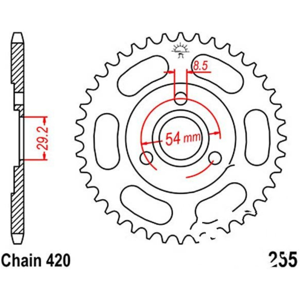 Rear sprocket 35tooth pitch 420 JTR25535