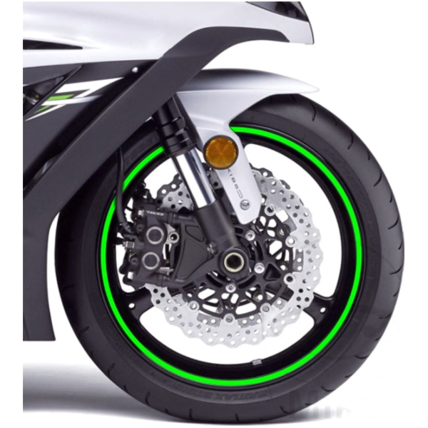 Reflective strips green