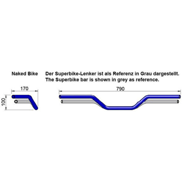 handlebar aluminium black 22mm_1