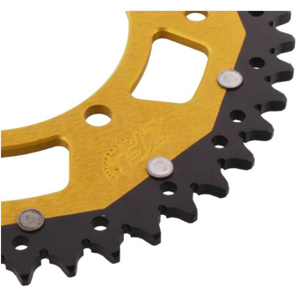 REAR SPROCKET DUAL 47 TOOTH PITCH 520 GOLD ZFD48647GLD_1