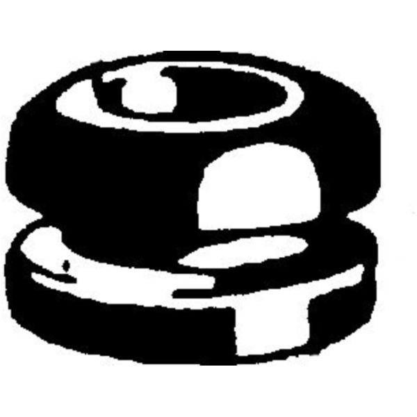 Double sided cable grommet 50280209