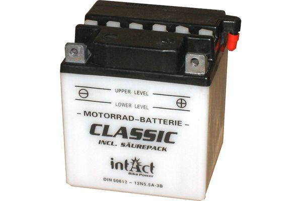 Akku Intact Bike Power Batterie 12N5.5A-3B mit Saeurepack