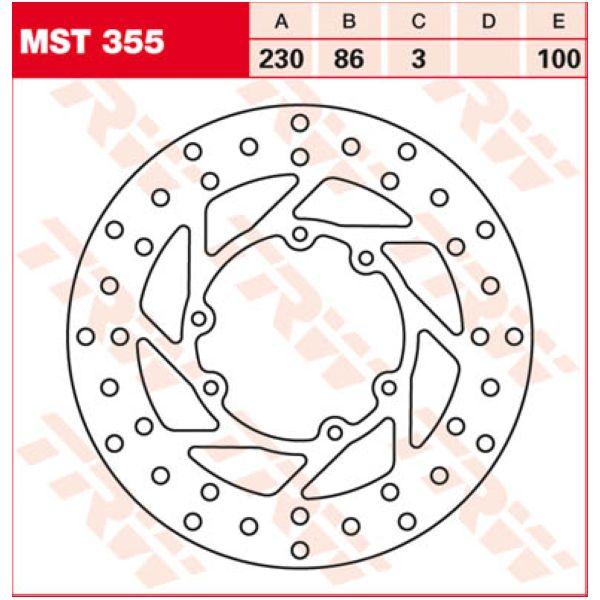 TRW Lucas MST355 Bremsscheibe starr