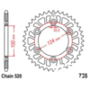Rear sprocket aluminium 37 tooth pitch 520_1