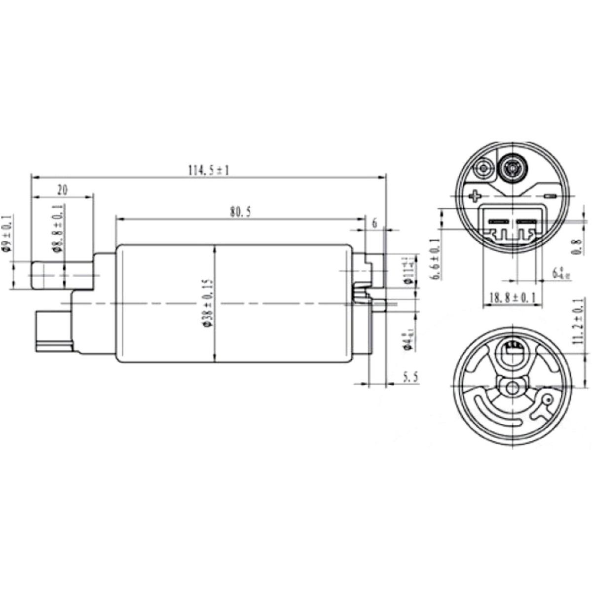 fuel pump 121660050