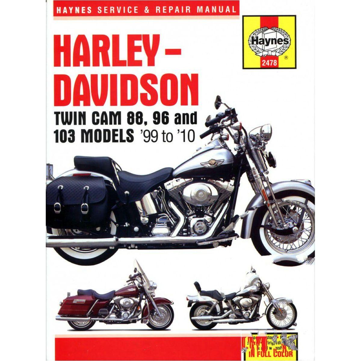 Reparatur Anleitung Harley 2478 für Harley Davidson FXD Dyna Super Glide  1450 GHV 2001, 68/34 PS, 50/25 kw