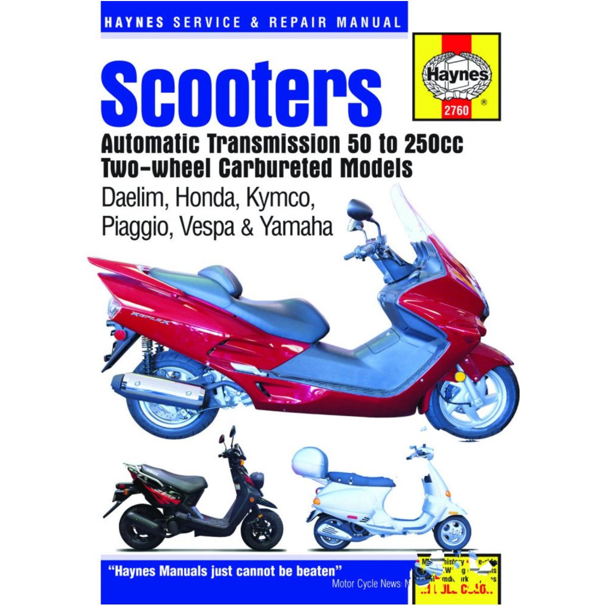 Daelim VL 125 Daystar Classic 2005 Haynes Service Repair Manual 2760