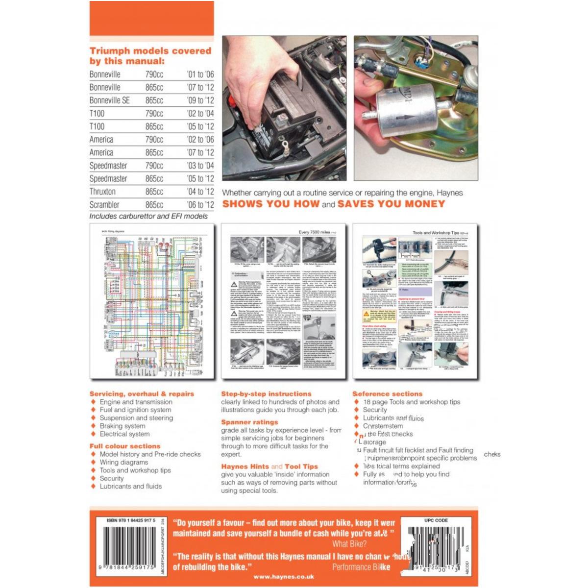 Reparatur Anleitung Triumph 4364 für Triumph Thruxton 865 SMTTJ9147G 2010,  69/34 PS, 51/25 kw