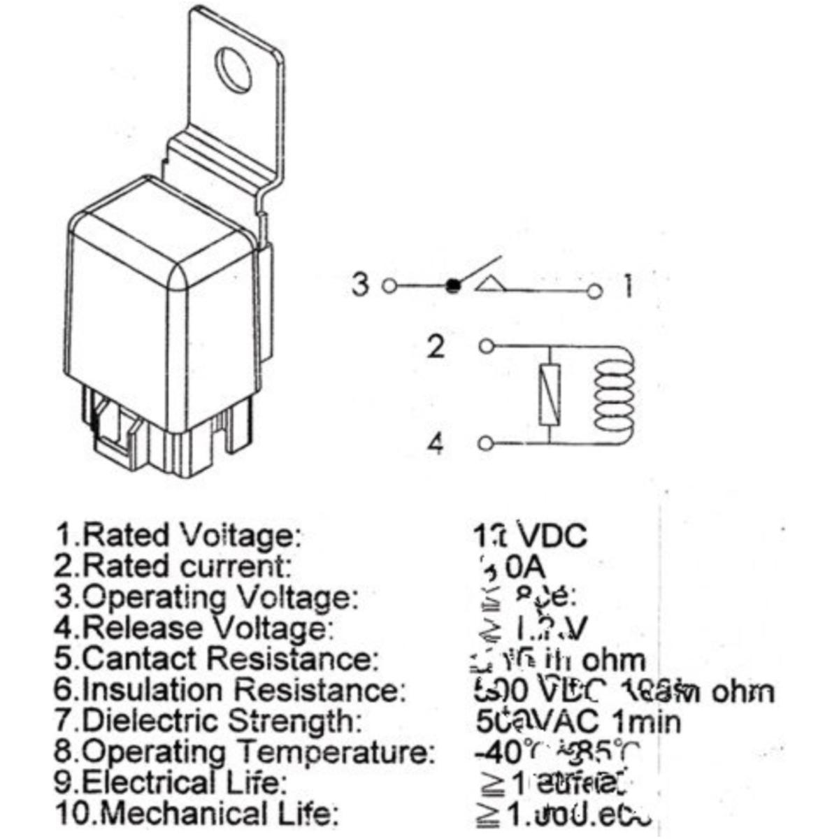 Schaltrelais 12V universal