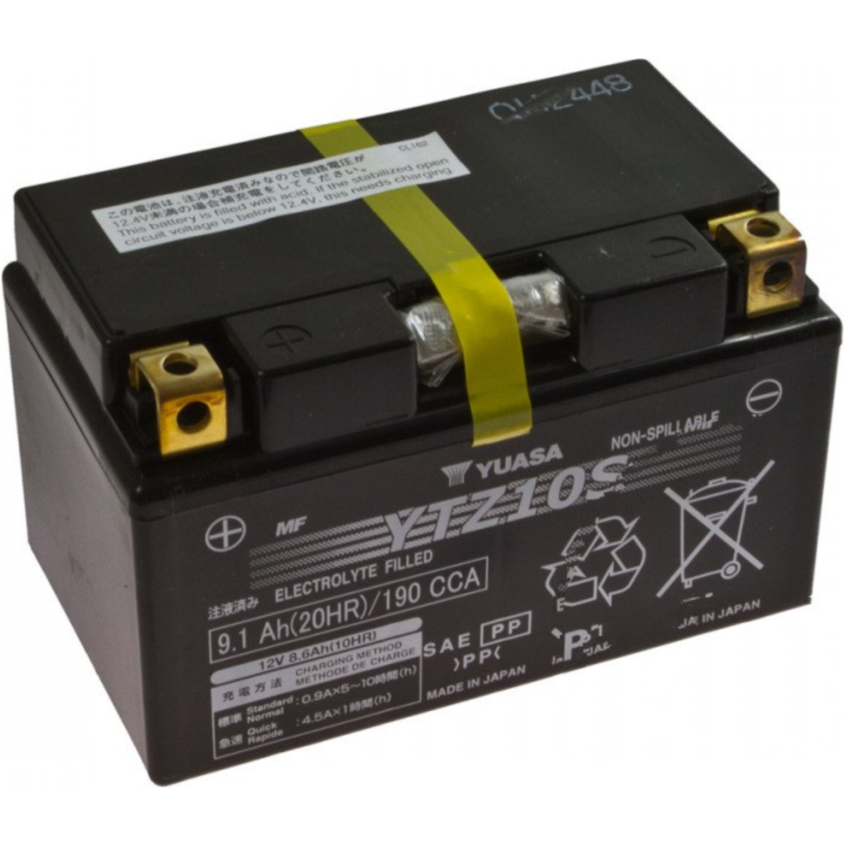 Motorcycle Battery Ytz10s Yuasa Yamaha Mt 09 Tracer Abs 78263 Monitor Fr 850 Rn29f 2015 115 Ps 85 Kw