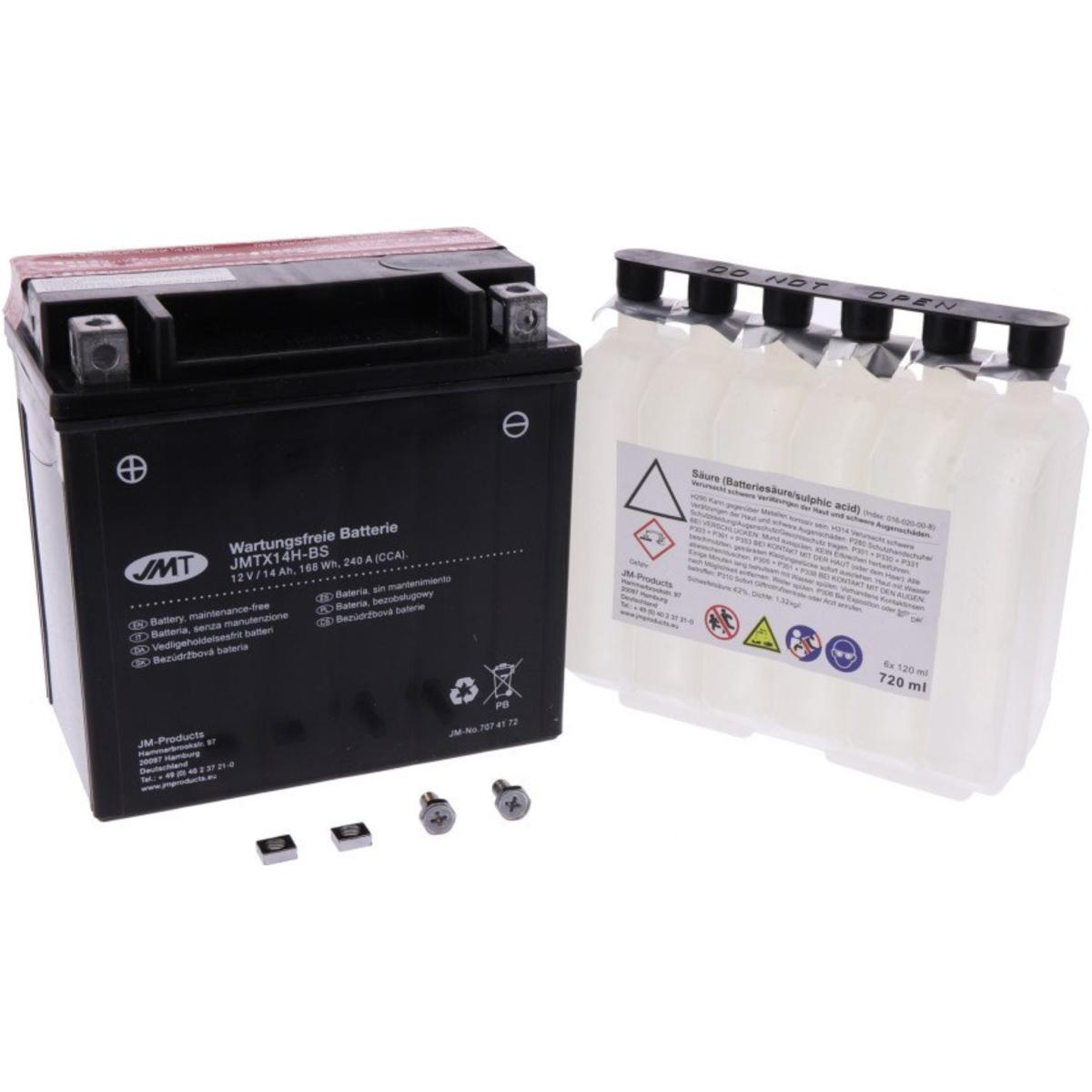 Roller Batterie YTX14H-Bs JMT JMTX14H-BS ACID