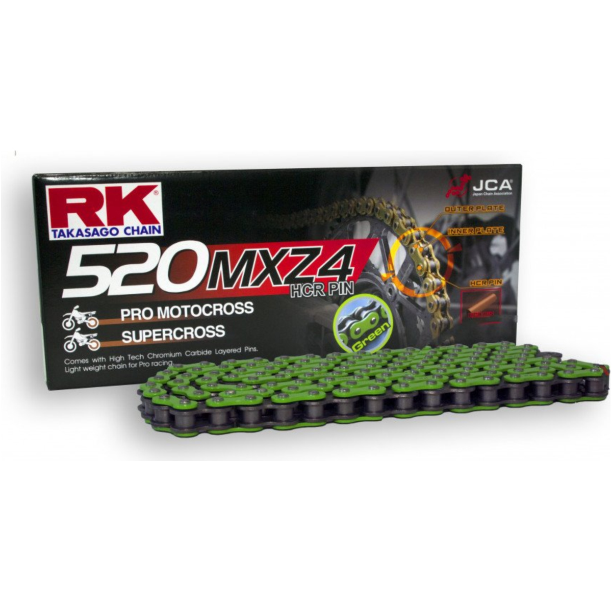 stahlfarben Kette SB 420 Teilung 120 Glieder mit Clipschloss RK