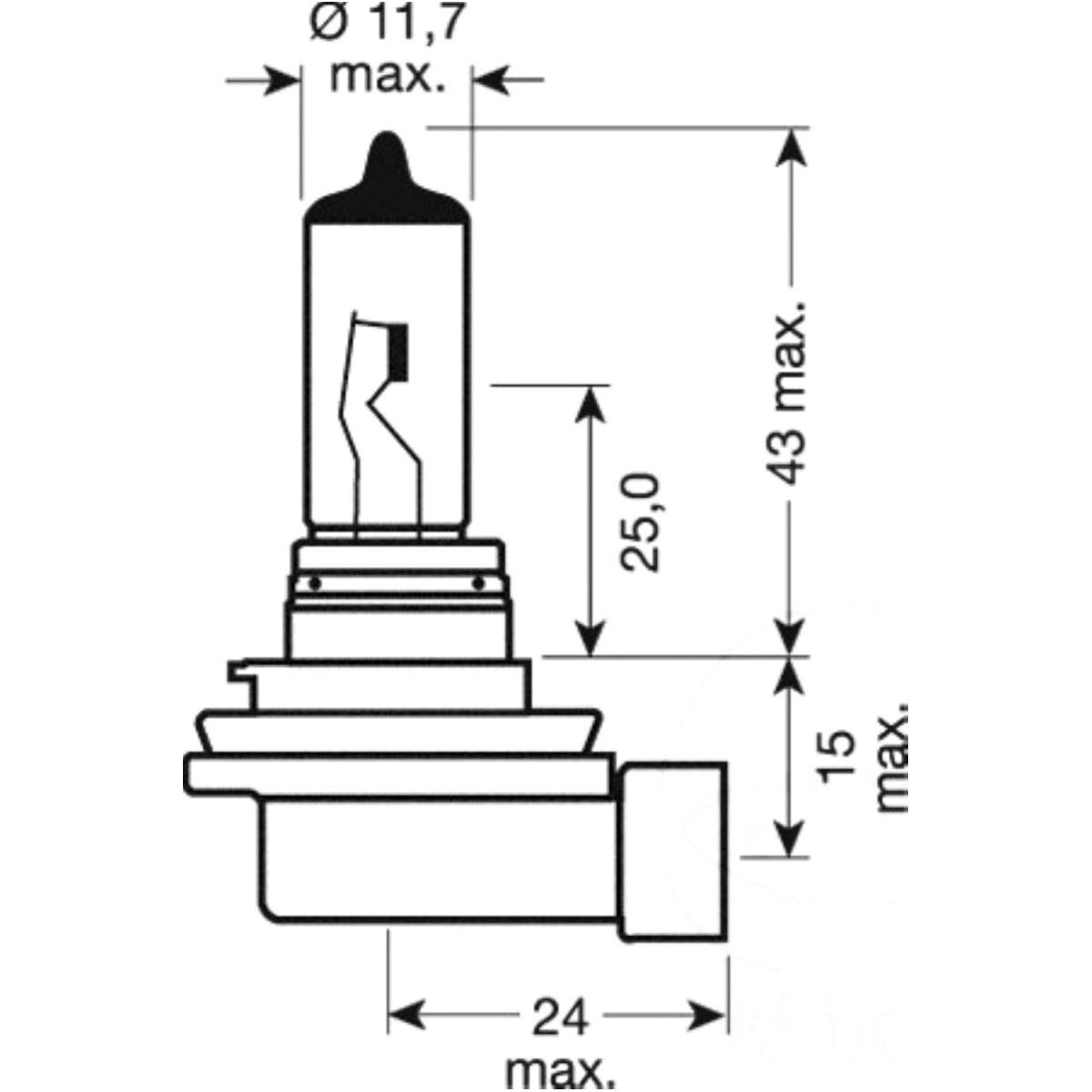 Glühbirne Birne Lampe H11 12V55W 6421101B on