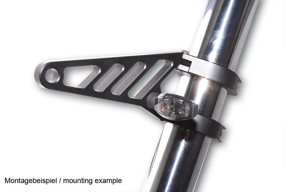Aluminium HIGHSIDER  Lampenhalter Set lang für 42-43 mm schwarz