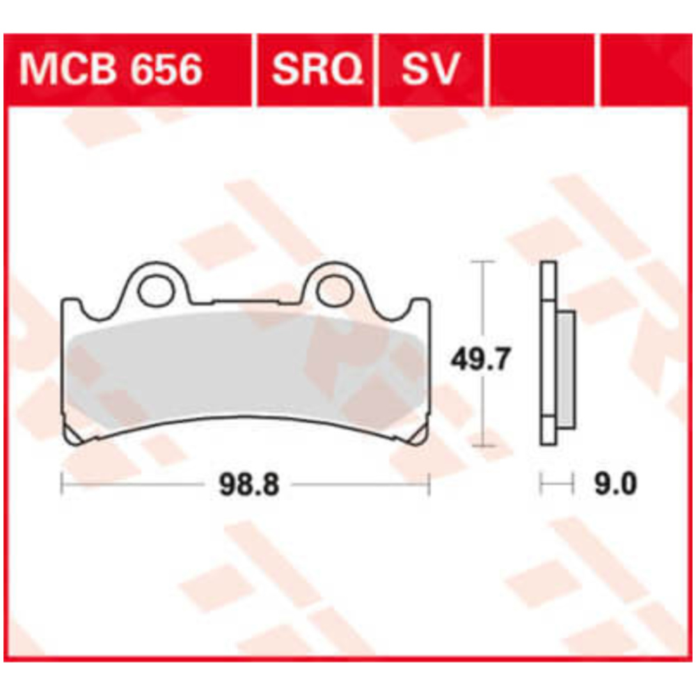 Bremsbeläge  Lucas TRW MCB560