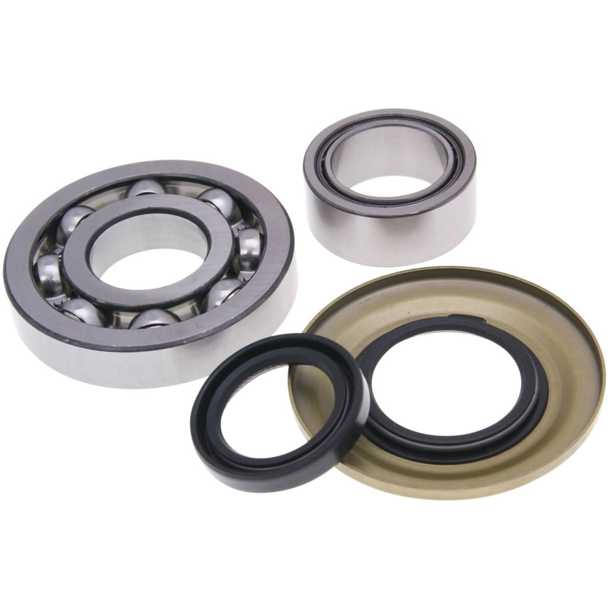SKF C4 Crankshaft Bearing Set with Shaft Seals Hi-Quality Metal Cage Derbi Senda D50B0 EBE EBS