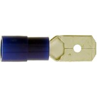 Male spade connector 6.3 jmp pack of 10 - see also 1586148