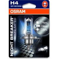 Lampe H4 12V60/55W 1er Blister Night Breaker Unlimited
