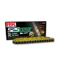 Rk x-ring chain yellow 525xso/108 für Honda CB Sport 500 PC32G 1998