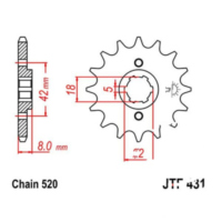 Front sprocket 15 tooth 520 JTF43115
