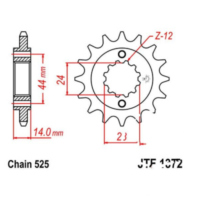 Front sprocket 17tooth pitch 525 JTF137217