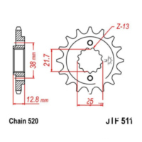 Front sprocket 15tooth pitch 520 JTF51115