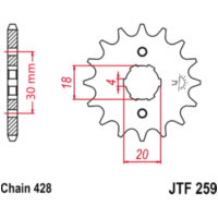 Front sprocket 15tooth pitch 428 JTF25915 für AJP PR3 Enduro Pro 200  2013