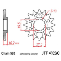 Front sprocket racing 14tooth pitch 520 JTF43214SC