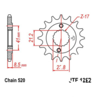 Front sprocket 15tooth pitch 520 JTF132215