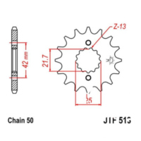 Front sprocket 18tooth pitch 530 JTF51318