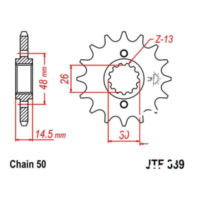 Front sprocket 17tooth pitch 530 JTF33917 für Honda CB Super Four ABS 1300 SC54E 2007