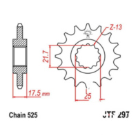 Front sprocket 15tooth pitch 525 JTF29715 für Honda CB Sport 500 PC32G 1998