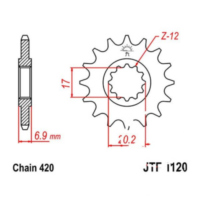 Front sprocket 11tooth pitch 420 JTF112011 für Beta RR Motard 50  2007