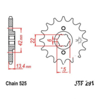 Front sprocket 15tooth pitch 525 JTF29115