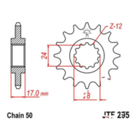 Front sprocket 15tooth pitch 530 JTF29515 für Honda CBR  600 PC31 1995