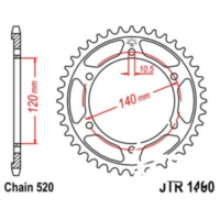 Rear sprocket 45 tooth 520 black