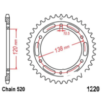 Rear sprocket 36tooth pitch 520 JTR122036