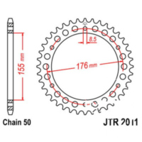 Rear sprocket 46tooth pitch 530
