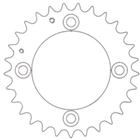 Rear sprocket 29 tooth pitch 520 für Adly/Herchee Canyon  280  2007-2009