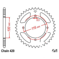 Rear sprocket 49 tooth pitch 420 JTR46149
