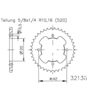 Rear sprocket 35 tooth pitch 520 503213635