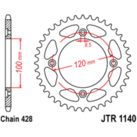chain wheel 63T pitch 428