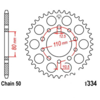 Rear sprocket 40 tooth pitch 530 JTR133440