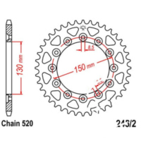 Rear sprocket 53 tooth pitch 520 JTR245253